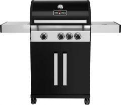 BBQ-Gas-Grill 1300 BLACK mit 3 Brennern + Seitenbrenner