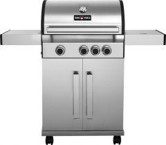 BBQ-Gas-Grill 1300 SILVER mit 3 Brennern + Seitenbrenner
