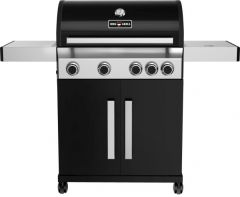 BBQ-Gas-Grill 1400 BLACK mit 4 Brennern + Seitenbrenner