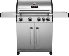 BBQ-Gas-Grill 1400 SILVER mit 4 Brennern + Seitenbrenner