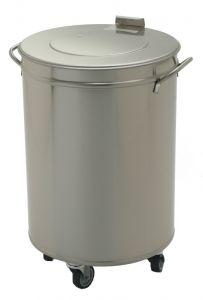 Edelstahl Abfalleimer 50 Liter ECO
