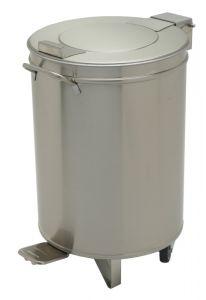 Edelstahl Abfalleimer 95 Liter ECO mit Hubdeckel