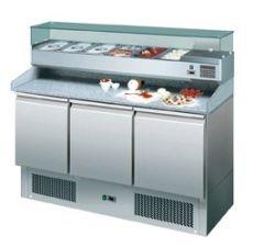 Pizzakühltisch 1400 ECO mit Kühlaufsatz