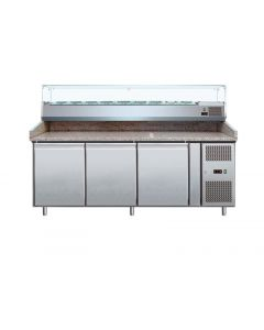 Pizzakühltisch ECO 3/0 mit 3 Türen