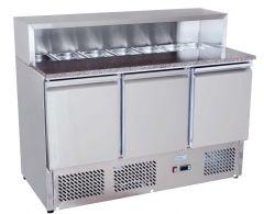 Pizzakühltisch 900 ECO mit 3 Türen