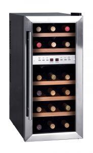 Weinkühlschrank mit 2 Temperaturzonen für 18 Flaschen