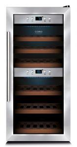 Weinkühlschrank mit 2 Temperaturzonen für 24 Flaschen